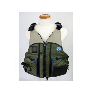 カヌー・カヤック用ライフジャケット ドラド MTI-806B オリーブ MTI|aquabeach2