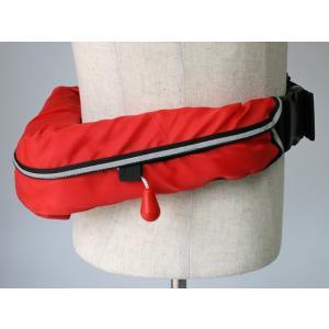 自動膨張式 ライフジャケット ベルト式 オーシャンWR-1型レッド 国交省認定品 タイプA 検定品 桜マーク付 釣り|aquabeach2|05