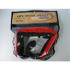 自動膨張式 ライフジャケット ベルト式 オーシャンWR-1型レッド 国交省認定品 タイプA 検定品 桜マーク付 釣り|aquabeach2|06