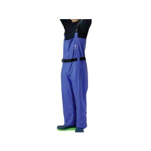 レインパンツ PUマリンサロペットパンツ WRE710 ブルー クロスファクター|aquabeach2