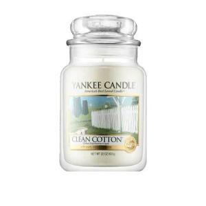 ヤンキー キャンドル クリーン コットン ジャーL ハウスウォーマー YANKEE CANDLE CLEAN COTTON HOUSEWARMER|aquabouquet