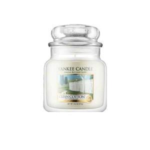 ヤンキー キャンドル クリーン コットン ジャーM ハウスウォーマー YANKEE CANDLE CLEAN COTTON HOUSEWARMER|aquabouquet