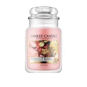 ヤンキー キャンドル フレッシュ カット ローズ ジャーL ハウスウォーマー YANKEE CANDLE FRESH CUT ROSES HOUSEWARMER|aquabouquet