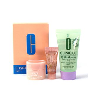 クリニーク スキンケア3点セット(アイセラム・洗顔・イスチャー サージ72)CLINIQUE SKIN CARE GIFT SET|aquabouquet