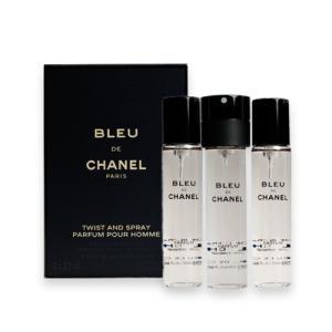 シャネル ブルードゥシャネル パルファム トラベル スプレイ  リフィル 20ml×3 CHANEL 香水 メンズ 男性用 BLEU DE CHANEL PARFUM REFILLS [3F-C8] aquabouquet