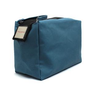イッセイミヤケ ブルーポーチ ダブルジッパー 三宅一生 ISSEY MIYAKE BLUE POUCH DOUBLE ZIPPER [ノベルティ] 化粧ポーチ ブランド 化粧 ブランド|aquabouquet