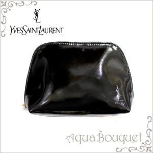 イヴサンローラン メイクポーチ サフィアーノ エナメル  YVES SAINT LAURANT MAKE UP POUCH(箱不良)|aquabouquet