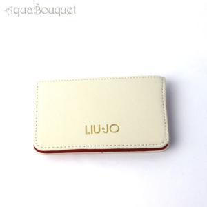 リュー ジョー カードホルダー ホワイト×レッド LIU JO CARD HOLDER WHITE & RED [ノベルティ]|aquabouquet
