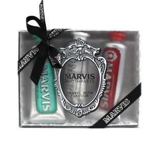 マービス イタリア カラーセット (クラシックストロングミント&ホワイトミント&シナモンミント) 歯磨き25ml×3種 MARVIS TOOTH PASTE TRAVEL WITH FLAVOUR|aquabouquet