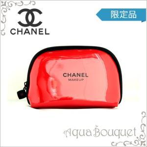 シャネル CHANEL コスメ エナメルポーチ レッド メイクアップ  CHANEL MAKEUP(箱なし)|aquabouquet