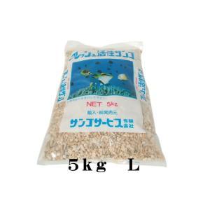 【同梱包不可】サンゴサービス【珊瑚砂5kg Lサイズ】 管理80|aquacraft