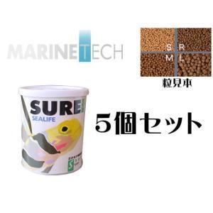 日本海水【シュアーS 50gx5個】浮遊性 小型海水魚の餌 管理60 aquacraft