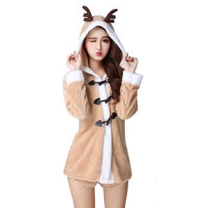クリスマス衣装 レディース コスプレ トナカイ コスチューム 仮装  cosplay 演出服装 可愛...