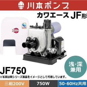 川本ポンプ JF750 カワエースジェット 浅 深井戸兼用ポンプ 並行輸入品 三相200V 50 ☆正規品新品未使用品 750W 60Hz共用 ジェットなし 別売り