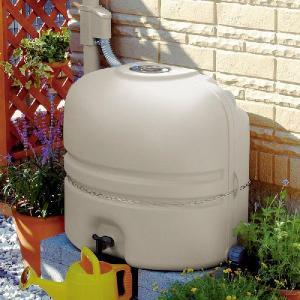 パナソニック 雨ためま専科110(MQW102) 雨水貯留タンク + 一般たてとい用接続部材 (取出します・戻します) MQW120 パールグレー(しろ) セット|aquaearth
