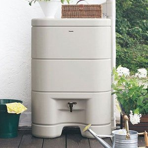 パナソニック レインセラー150(MQW104) 雨水貯留タンク + 一般たてとい用接続部材 (取出します・戻します) MQW620 ブラックカラー セット|aquaearth