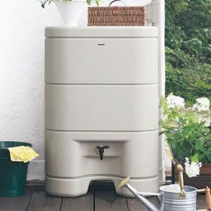 パナソニック レインセラー150(MQW104) 雨水貯留タンク + 一般たてとい用接続部材 (取出します・戻します) MQWX20 モダンベージュカラー セット|aquaearth
