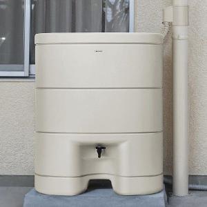 パナソニック レインセラー200(MQW103) 雨水貯留タンク + 一般たてとい用接続部材 (取出します・戻します) MQWX20 モダンベージュカラー セット|aquaearth