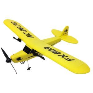 2ch セスナ型 ラジコン 33cm の ビッグサイズ パイパー J-3 カブ 電動 飛行機|aquamint