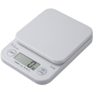 タニタ はかり スケール 料理 2kg 1g デジタル ホワイト KF-200 WH