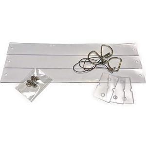 銀テープストラップ作成キット クリア3個セット|aquamint