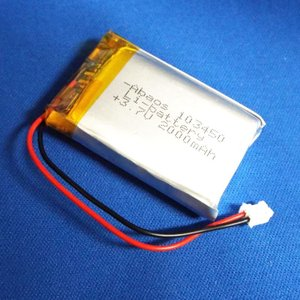 リポバッテリー リチウムポリマー電池 LiPo 3.7V 2000mAh 103450 PHコネクタ相当|aquamix