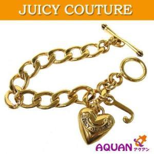 大特価セール! JUICY COUTURE ジューシークチュール ハートチャーム ブレスレット ゴールド|aquankyoya
