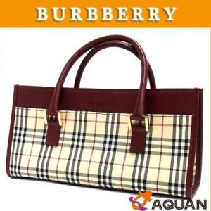 大特価セール! BURBERRY バーバリー ハンドバッグ トートバッグ ノヴァチェック ボルドー|aquankyoya