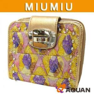 miumiu キルティング 折財布|aquankyoya