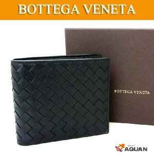 BOTTEGA VENETA ボッテガヴェネタ イントレチャート 札入れ 折財布 ブラック 黒 新品同様 送料込み|aquankyoya