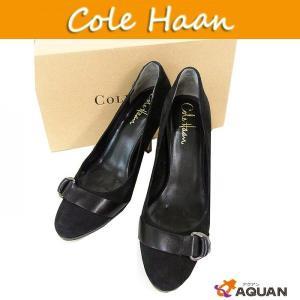 COLE HAAN コールハーン cole haan スウェードパンプス 靴 ブラック レディース 表記サイズ6B|aquankyoya