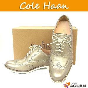 COLE HAAN コールハーン cole haan スニーカー 靴 革靴 シューズ ドライビングシューズ シャイニーゴールド レディース サイズ8|aquankyoya