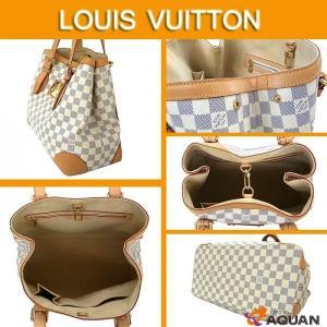 LOUIS VUITTON ルイヴィトン ハムステッドMM ダミエアズール 白 ホワイト トートバッグ ショルダーバッグ N51206 送料込み|aquankyoya|02