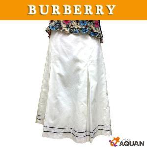 大特価セール! BURBERRY バーバリー ブルーレーベル レディース スカート ボックススカート コットン100% ホワイト 白 表記サイズ38|aquankyoya