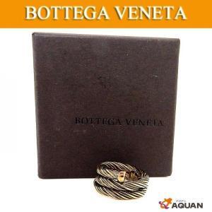 BOTTEGA VENETA  ボッテガヴェネタ 指輪 リング シルバーリング 燻し銀 AG925 日本サイズ約11号|aquankyoya
