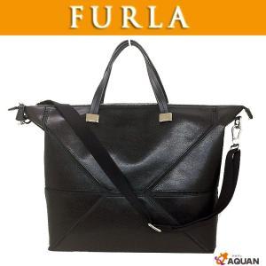FURLA フルラ 2WAY ショルダーバッグ  トートバッグ  ブラック レザー  新品同様 美品 送料無料|aquankyoya