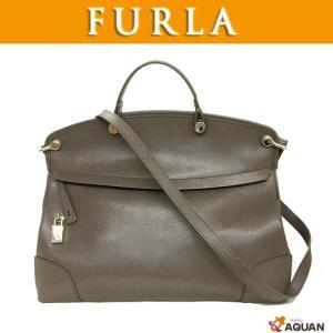 FURLA フルラ パイパー PIPER ハンドバッグ ショルダーバッグ 2WAY グレー 未使用 美品 送料無料|aquankyoya
