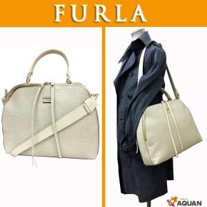 大特価セール! FURLA フルラ ショルダーバッグ 2WAYバッグ ボストンバッグ レザー  オフホワイト 白 未使用 送料無料|aquankyoya