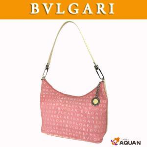 大特価! BVLGARI ブルガリ ショルダーバッグ ロゴマニア キャンバス×レザー ピンク×アイボリー |aquankyoya
