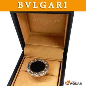 大特価セール! BVLGARI ブルガリ ビッグリング 指輪 ホワイトゴールド K18 750WG オニキス BB 日本サイズ約8.5号 送料込み|aquankyoya