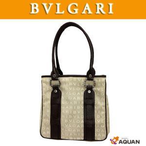 大特価セール! BVLGARI ブルガリ トートバッグ ロゴマニア クリームベージュ×ブラウン|aquankyoya