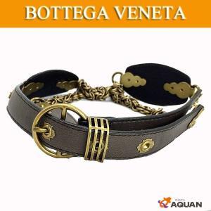大特価セール BOTTEGA VENETA ボッテガヴェネタ ベルト レディース 表記サイズM ブラウン×ゴールド|aquankyoya