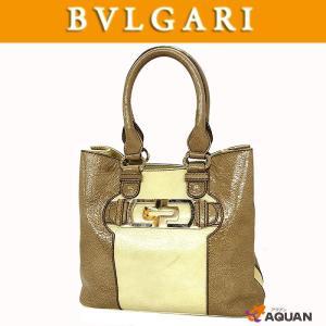 大特価セール! BVLGARI ブルガリ トートバッグ パレンテシ パテントレザー クリーム×ベージュ |aquankyoya