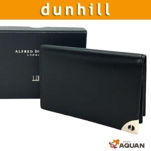 dunhill ダンヒル 名刺入れ カードケース レザー ブラック メンズ|aquankyoya