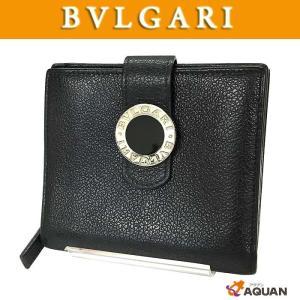 BVLGARI ブルガリ 折財布 ブルガリブルガリ レザー ブラック 黒 |aquankyoya