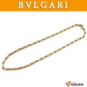 BVLGARI ブルガリ ネックレス パッソドッピオ チェーンネックレス ゴールド イエローゴールド K18 750YG アクセサリー 送料込み|aquankyoya