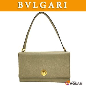 BVLGARI ブルガリ ハンドバッグ ピグスキン グレージュ 送料込み|aquankyoya