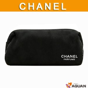 CHANEL シャネル コスメポーチ 化粧ポーチ パフュームシリーズ ブラック|aquankyoya