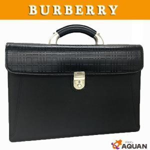 大特価セール! BURBERRY バーバリー ビジネスバッグ 書類かばん レザー ブラック 黒 メンズ 送料込み|aquankyoya