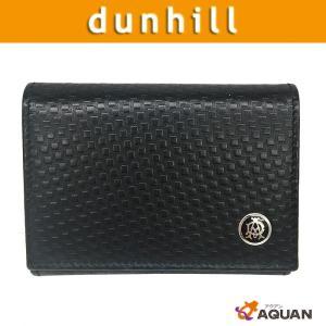 dunhill ダンヒル 小銭入れ 名刺入れ カードケース コインケース L2J380A レザー ブラック メンズ 未使用|aquankyoya